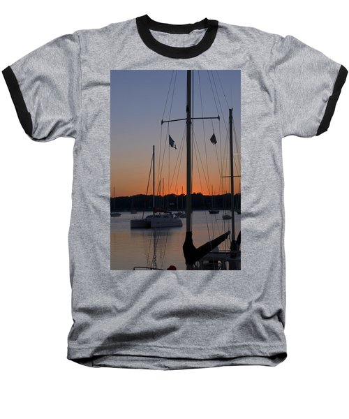 Boats At Beaufort Baseball T-Shirt