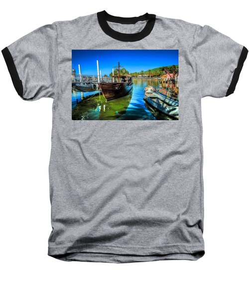 Boats At Kibbutz On Sea Galilee Baseball T-Shirt
