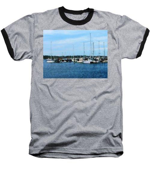 Baseball T-Shirt featuring the photograph Boats At Newport Ri by Susan Savad