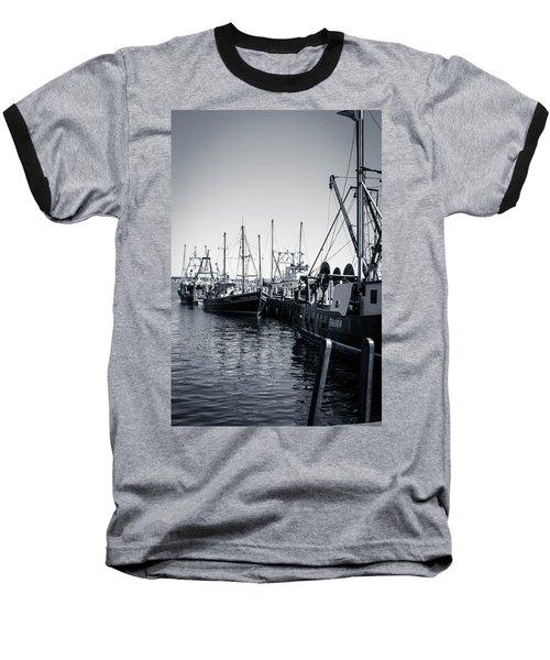 Boats At The Pier  Baseball T-Shirt by Brian Caldwell