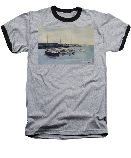 Boats In A Harbour Baseball T-Shirt
