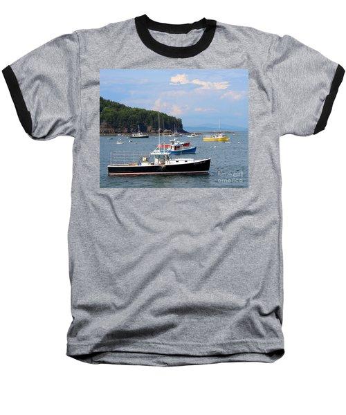 Boats In Bar Harbor Baseball T-Shirt