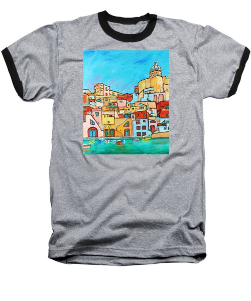 Boats In Front Of The Buildings Vii Baseball T-Shirt by Xueling Zou