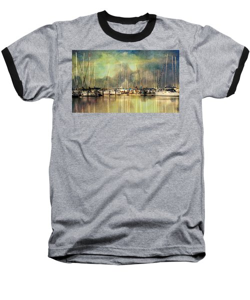 Boats In Harbour Baseball T-Shirt