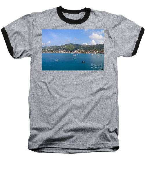 Boats In The Bay Baseball T-Shirt
