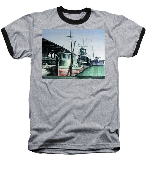 Baseball T-Shirt featuring the painting Boats by Joey Agbayani