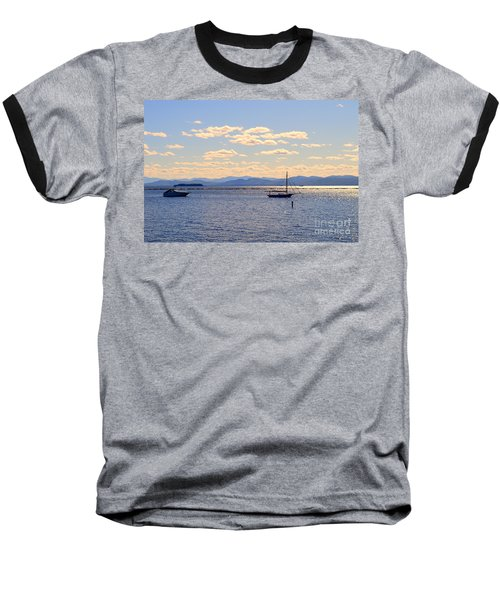 Boats On Lake Champlain Vermont Baseball T-Shirt by Catherine Sherman