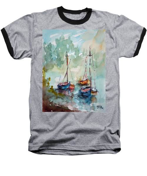 Boats On Lake  Baseball T-Shirt