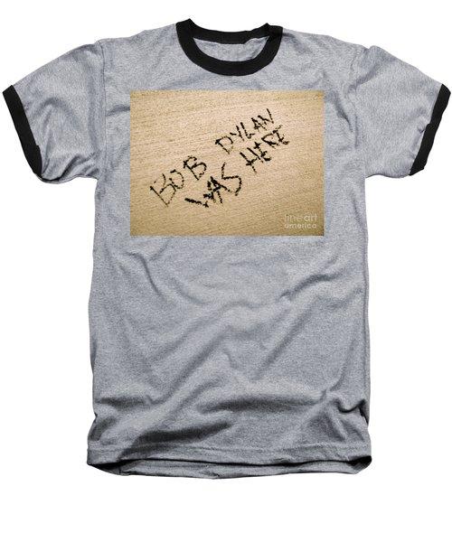 Bob Dylan Graffiti Baseball T-Shirt by Jacqueline Athmann