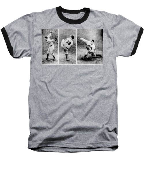 Bob Feller Pitching Baseball T-Shirt by R Muirhead Art