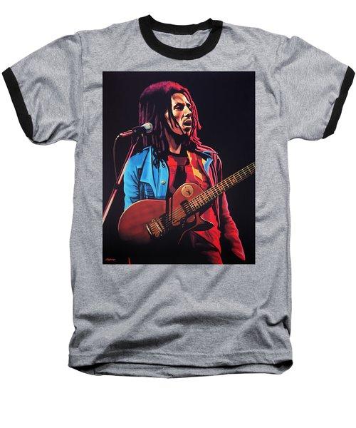 Bob Marley 2 Baseball T-Shirt by Paul Meijering