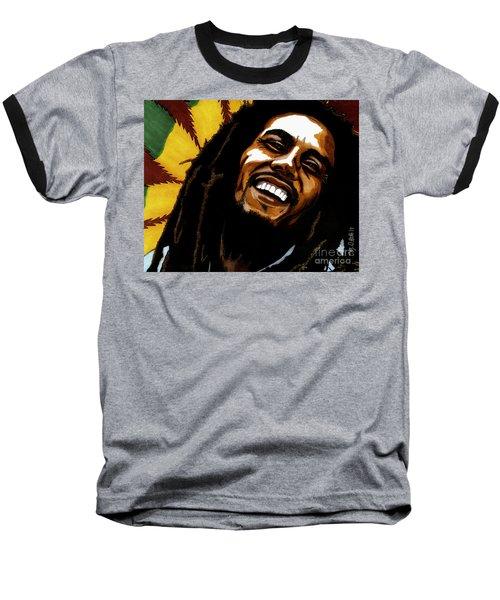 Bob Marley Rastafarian Baseball T-Shirt