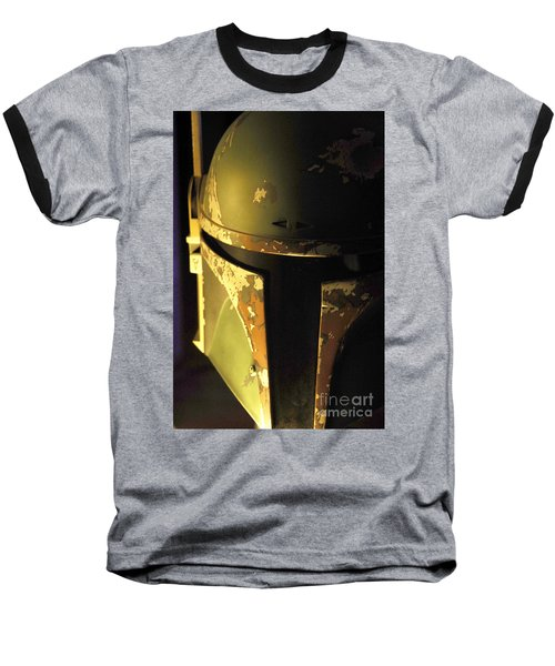 Boba Fett Helmet 124 Baseball T-Shirt by Micah May