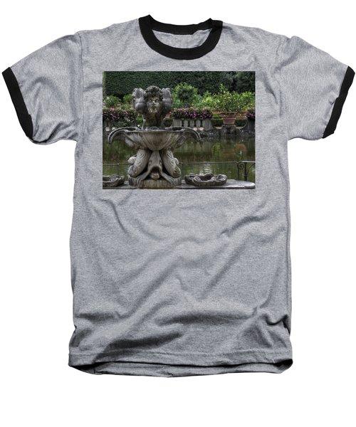 Boboli Fountain Baseball T-Shirt