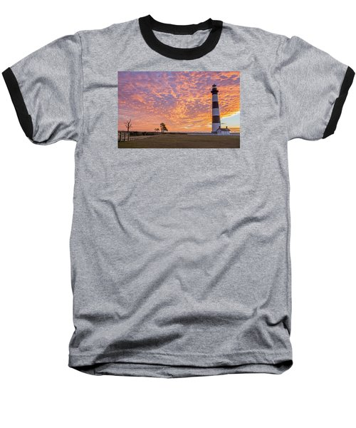 Bodie Island Lighthouse At Sunrise Baseball T-Shirt