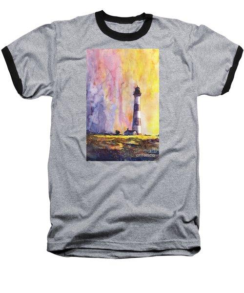 Bodie Island Lighthouse Baseball T-Shirt by Ryan Fox