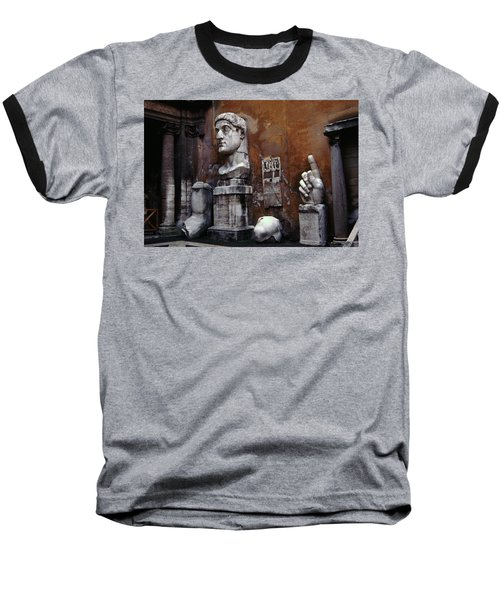 Body Parts The Colossus Of Constantine Rome Baseball T-Shirt by Tom Wurl