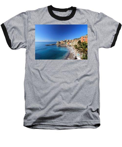 Bogliasco Village. Italy Baseball T-Shirt by Antonio Scarpi