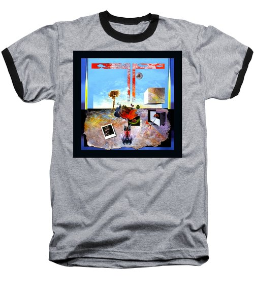 Baseball T-Shirt featuring the painting Bogomil Objects by Otto Rapp