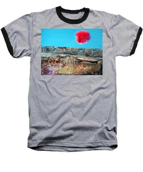 Baseball T-Shirt featuring the painting Bogomil Sunrise 2 by Otto Rapp