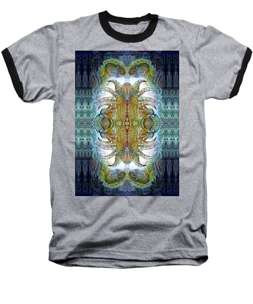 Baseball T-Shirt featuring the digital art Bogomil Variation 14 - Otto Rapp And Michael Wolik by Otto Rapp