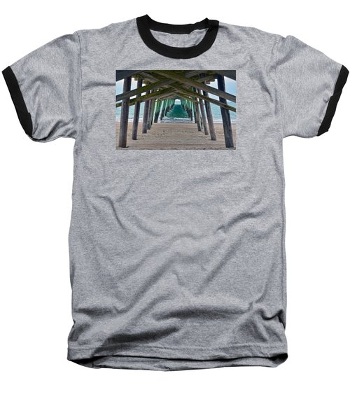 Bogue Banks Fishing Pier Baseball T-Shirt