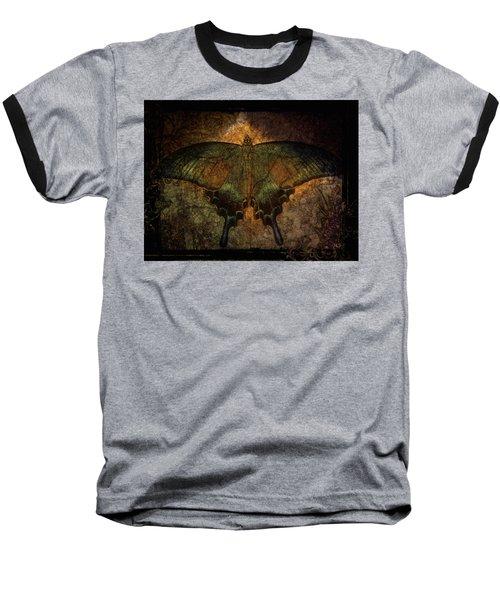 Baseball T-Shirt featuring the digital art Bohemia Butterfly - Art Nouveau by Absinthe Art By Michelle LeAnn Scott