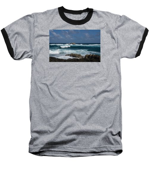Boiling The Ocean At Laie Point - North Shore - Oahu - Hawaii Baseball T-Shirt