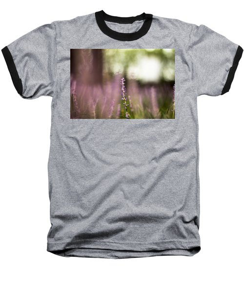 Bokeh With Purple Wildflower Baseball T-Shirt