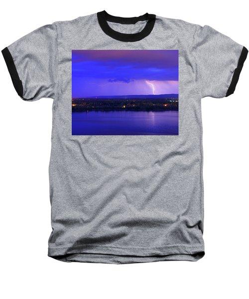 Bolt Over Gatineau Hills  Baseball T-Shirt
