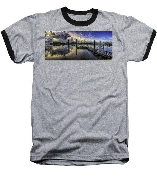 Bon Secour Panorama Baseball T-Shirt by Michael Thomas
