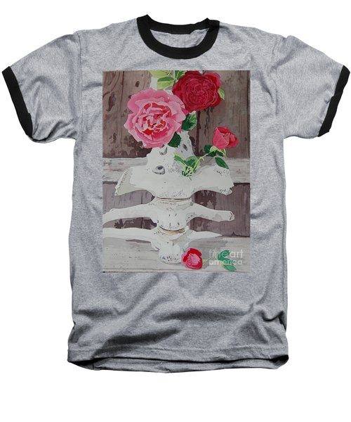 Bones And Roses Baseball T-Shirt