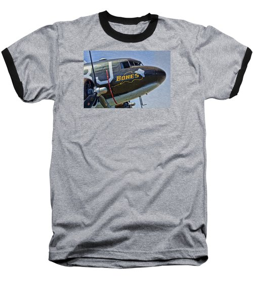 Bones Baseball T-Shirt by Steven Richardson