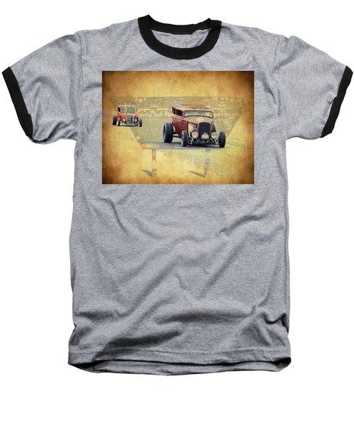 Bonneville Rodz Baseball T-Shirt by Steve McKinzie