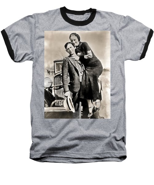 Bonnie And Clyde - Texas Baseball T-Shirt