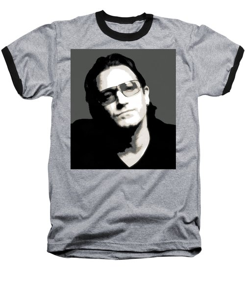 Bono Poster Baseball T-Shirt by Dan Sproul