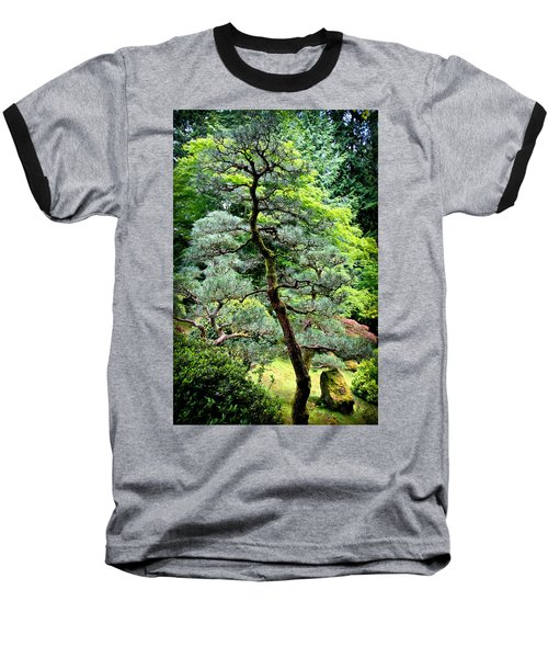 Bonsai Tree Baseball T-Shirt by Athena Mckinzie