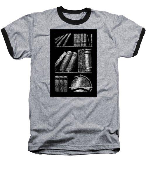 Books On Shelves Baseball T-Shirt by Jim Harris