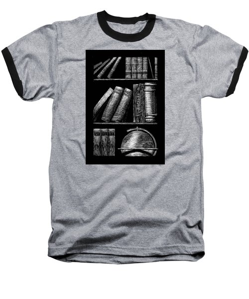 Books On Shelves Baseball T-Shirt
