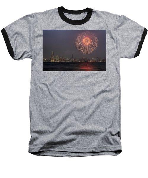 Boom In The Sky Baseball T-Shirt by John Swartz