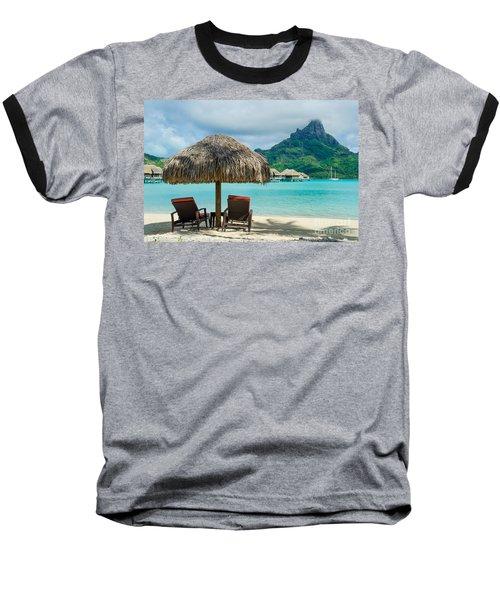 Bora Bora Beach Baseball T-Shirt