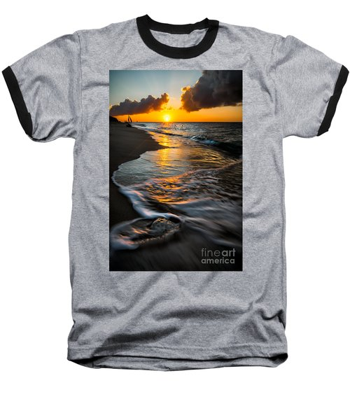 Boracay Sunset Baseball T-Shirt by Adrian Evans