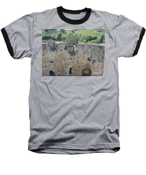 Bordeaux Castle Ruins With Vineyard Baseball T-Shirt