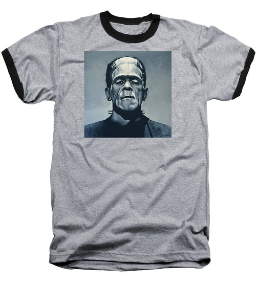 Boris Karloff As Frankenstein  Baseball T-Shirt by Paul Meijering