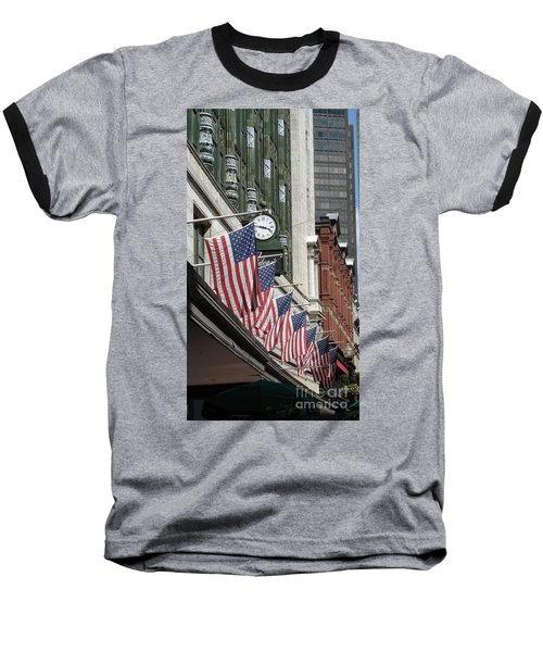 Boston 4th Of July Baseball T-Shirt