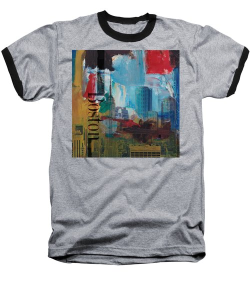 Boston City Collage 3 Baseball T-Shirt