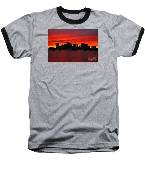 Boston City Sunset Baseball T-Shirt