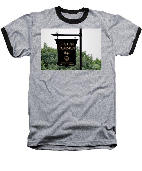 Boston Common Ma Baseball T-Shirt