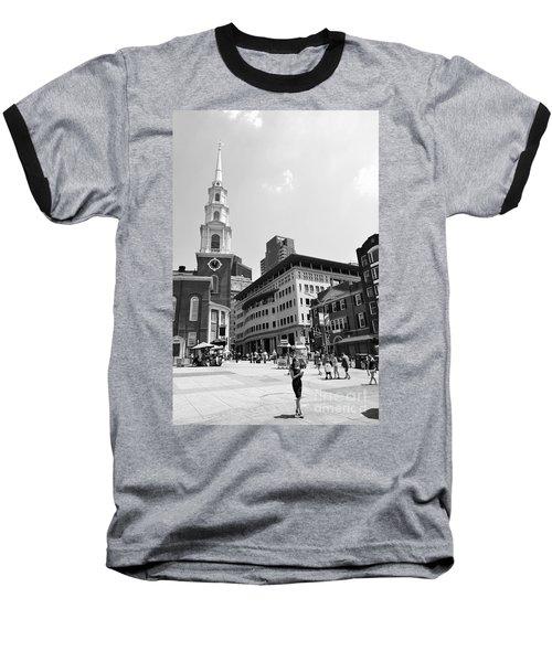 Boston Common Scene Baseball T-Shirt