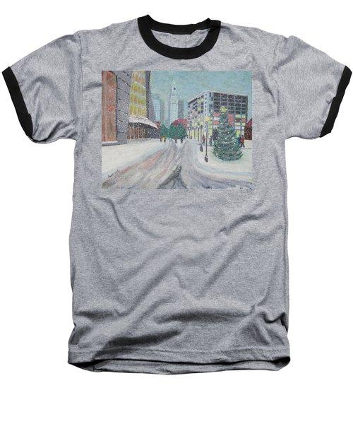 Boston First Snow Baseball T-Shirt